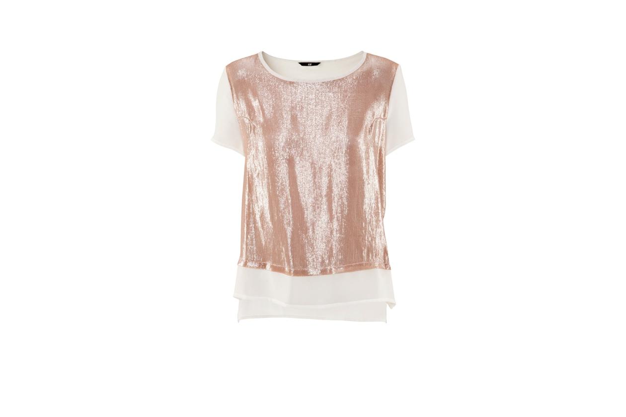 Top List Glitter blusa hm