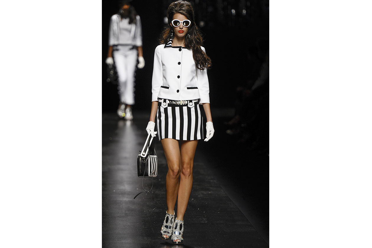 3 trend Righe B&W Moschino ful S13