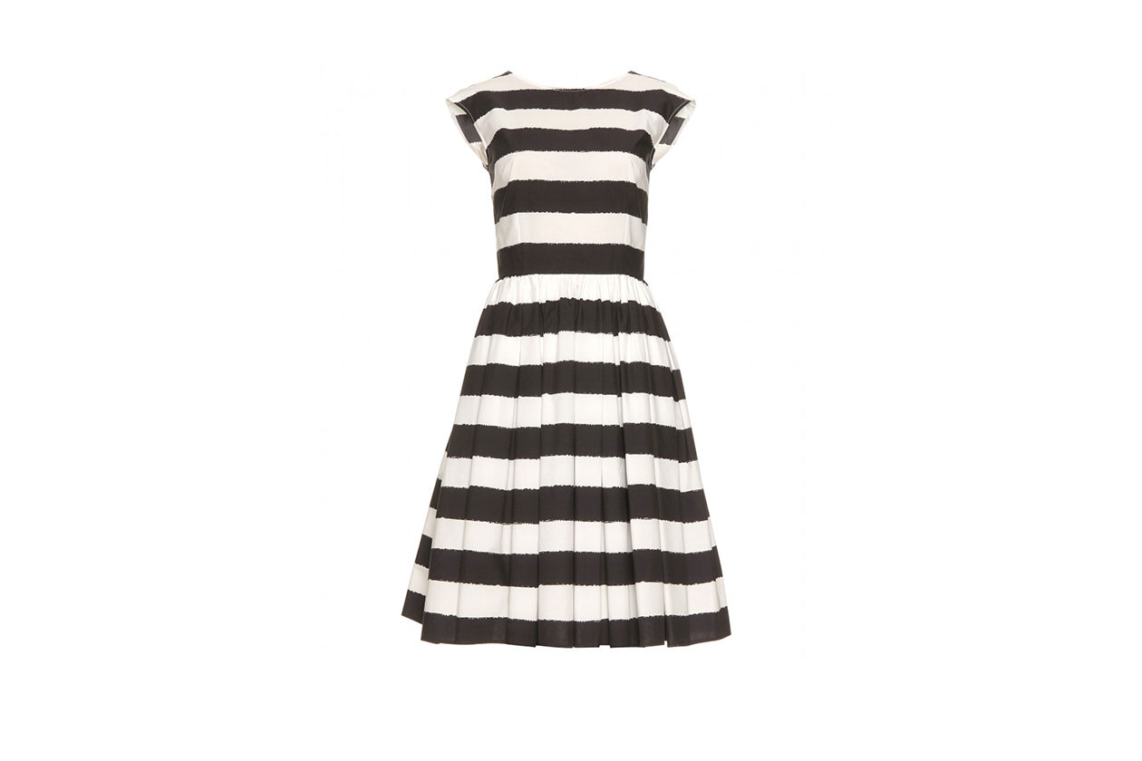 3 trend Righe B&W Striped Dress Dolce