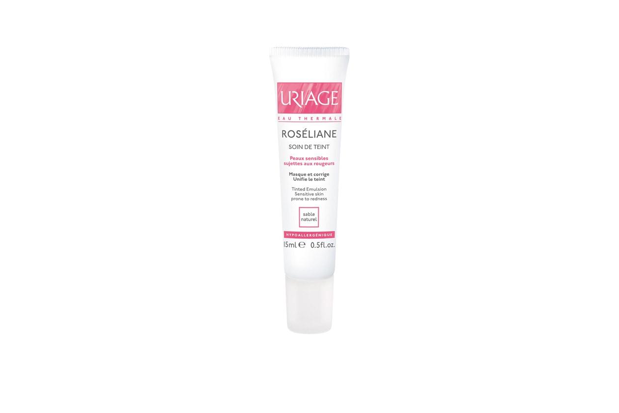 Combatte tutti i rossori la Uriage Roseliane Soin de Teinte che protegge la micro-circolazione cutanea  e copre la pelle con una tinta molto naturale