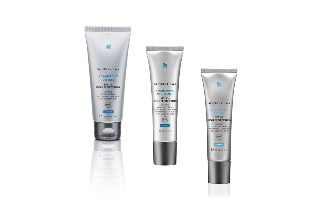 Contengono MEXORYL® SX/XL per proteggere contro i danni dei raggi UVA i prodotti by Skinceuticals