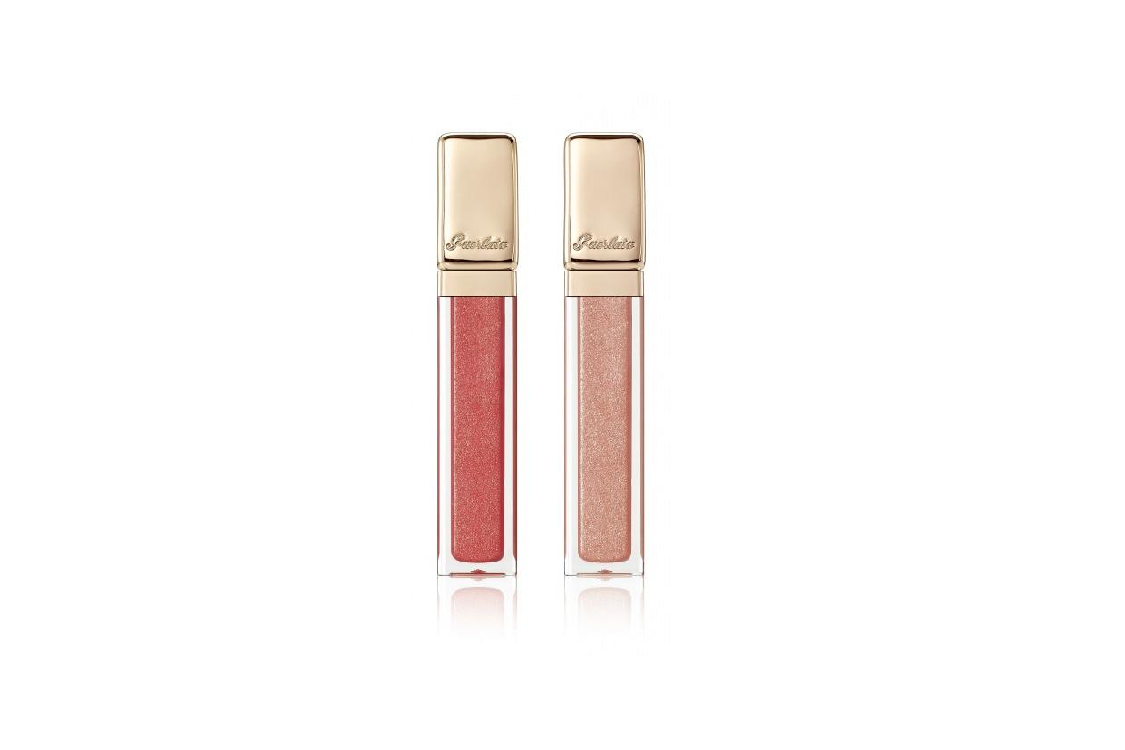 Da collezionare i Kiss Kiss gloss di Guerlain nelle due varianti passepartout: il Sable Show, un beige chiaro e il Rose Sunset, un rosa perlato
