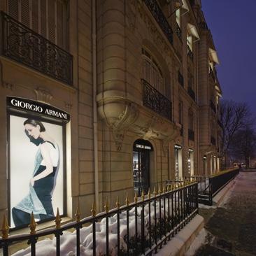 Giorgio Armani: opening in Avenue Montaigne