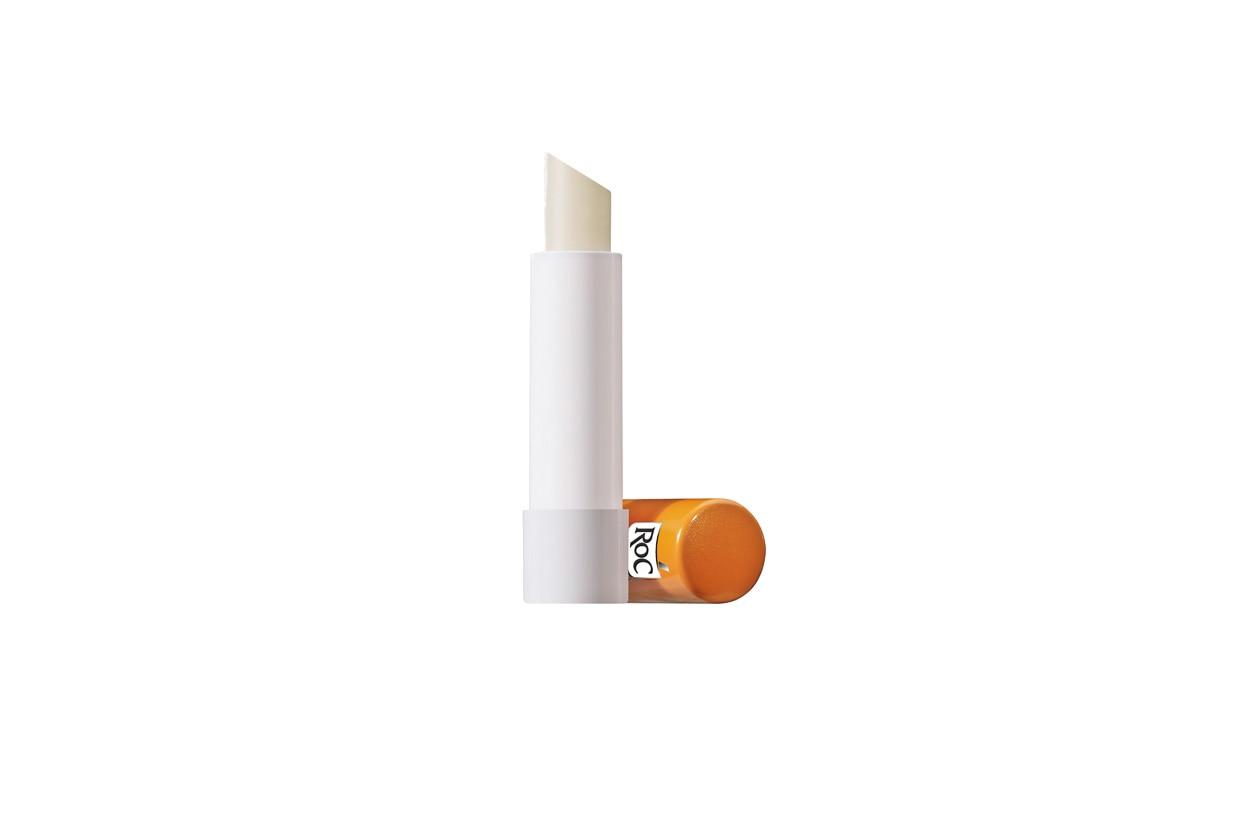 Il Soleil Protexion+ viso – stick solare spf 30 di Roc contiene filtri fotostabili UVA che proteggono le labbra dall'esposizione al sole
