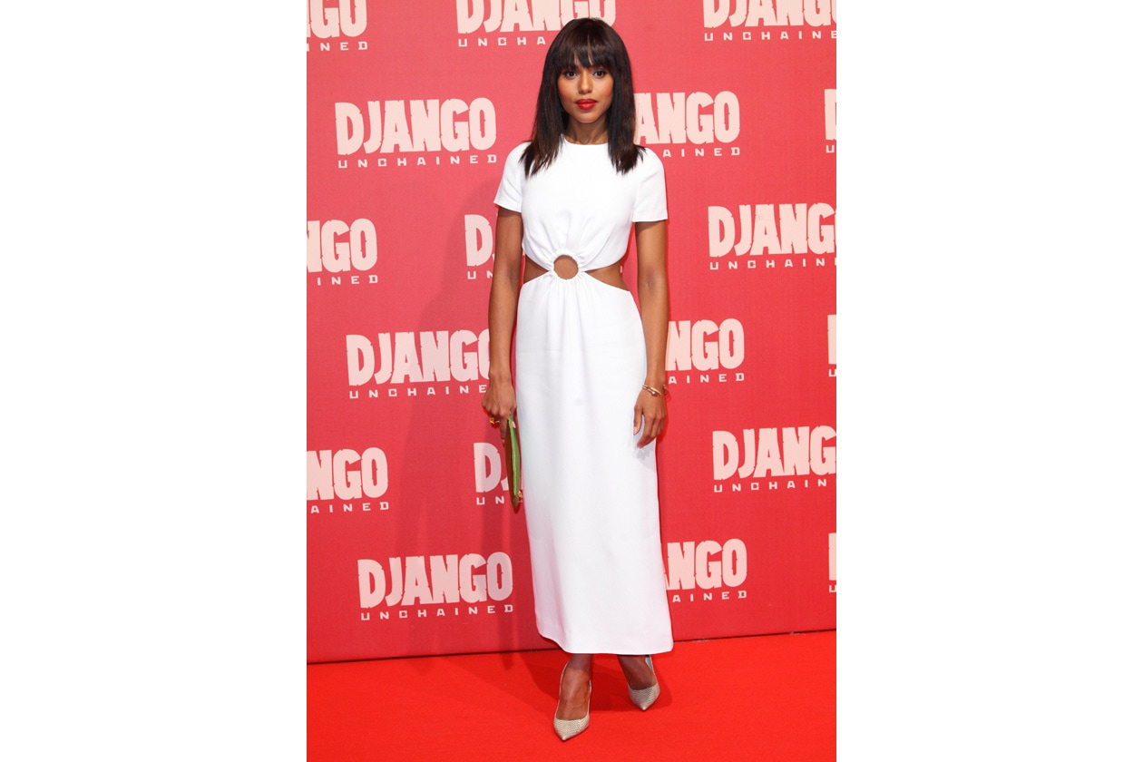 Kerry Washington dress&clutch Prada Django Unchained Premiere Rome 4.1