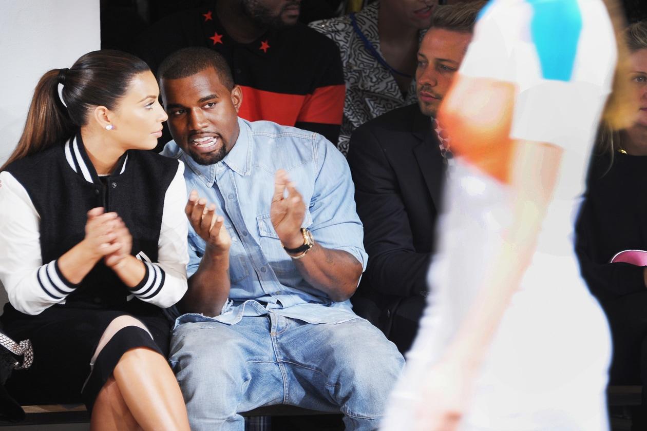 Kim Kardashian Kanye West fashion show