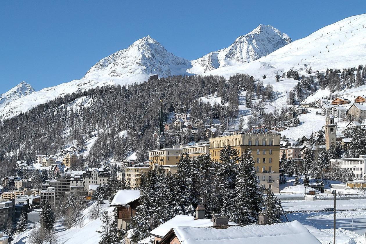Kulm Hotel Outside Winter