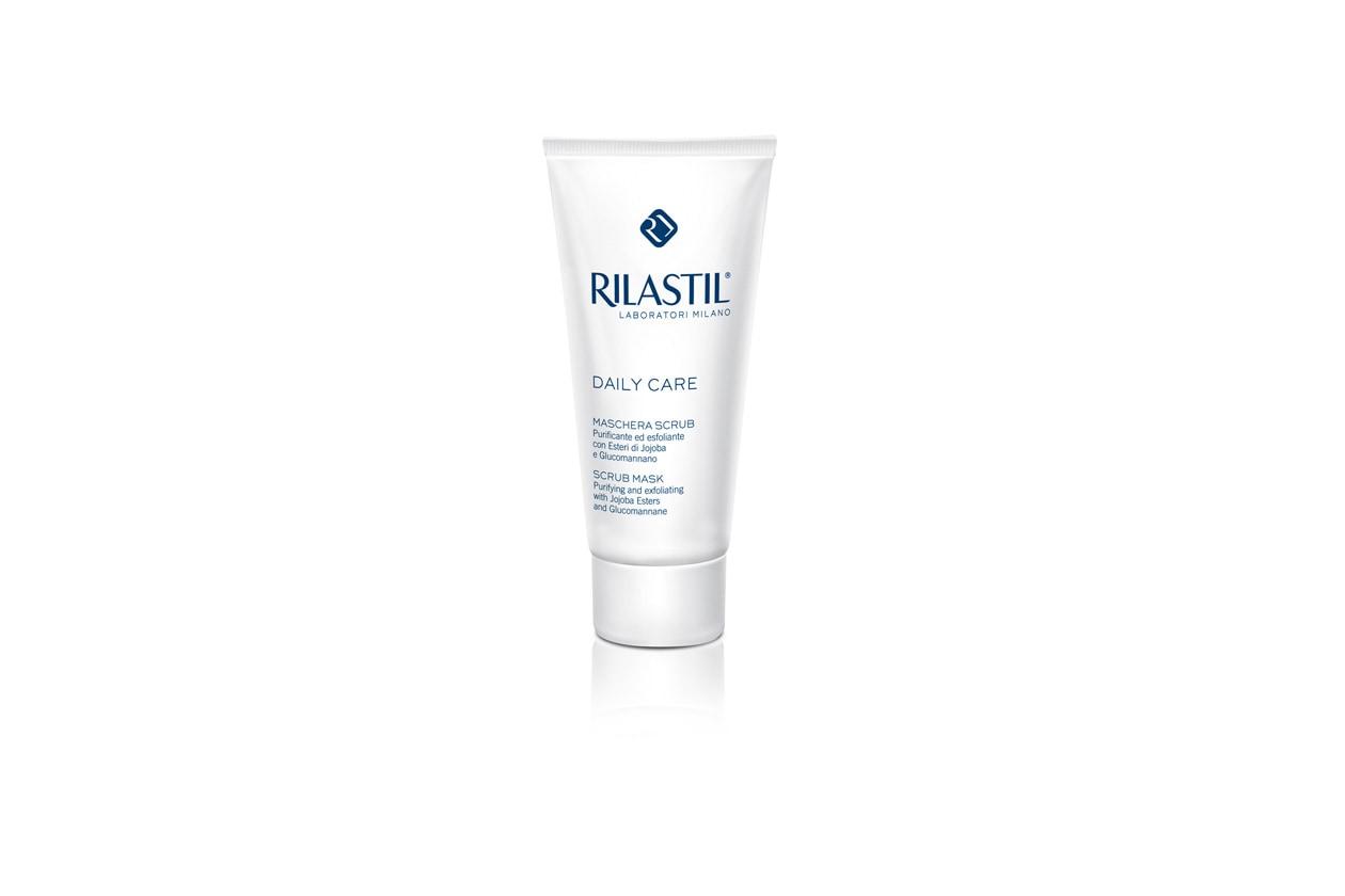 La maschera di Rilastil ha una fibra vegetale che purifica la pelle