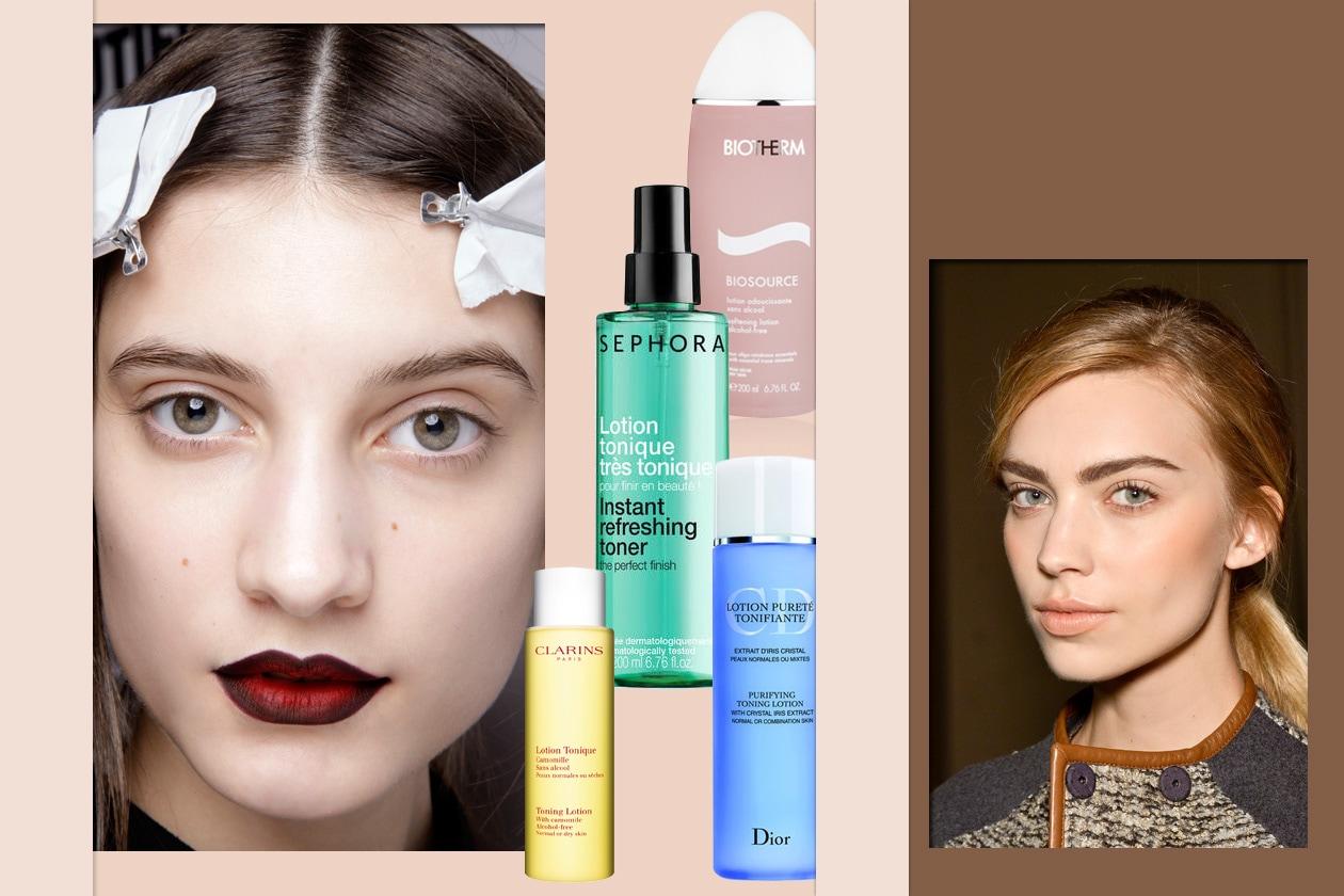 beauty tonico per il viso Collage