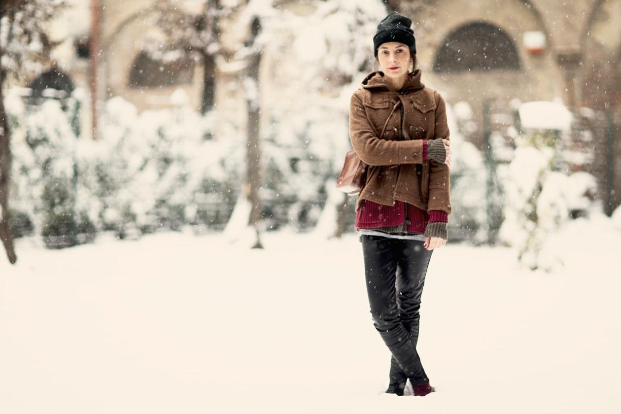 Trend: Michela e i suoi look strato su strato