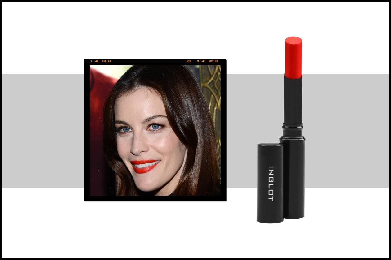 Color fluo per Liv Tyler: per replicare basta scegliere un lipstick come lo Slim Gel 44 di Inglot