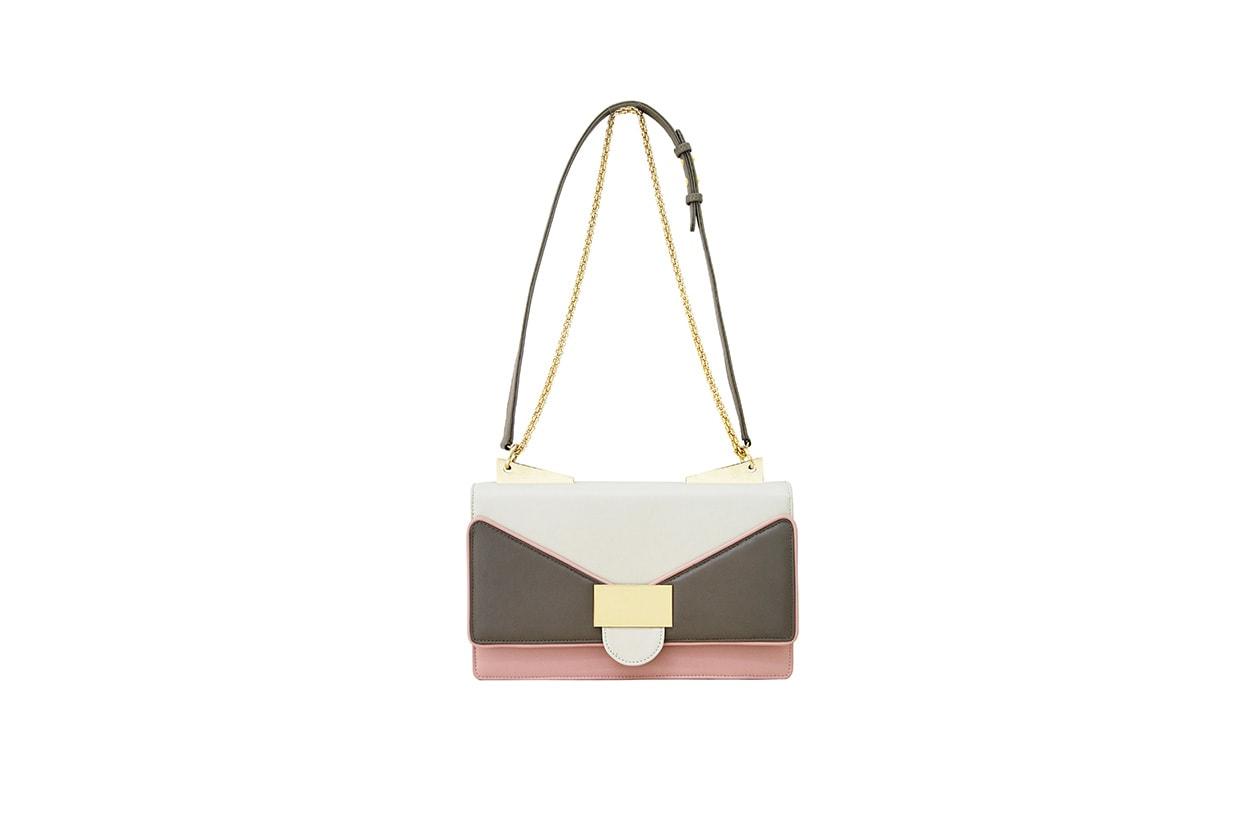 Fashion Borse 2013 ANITA SHOULDER cream pink+SARA BATTAGLIA+SS2013