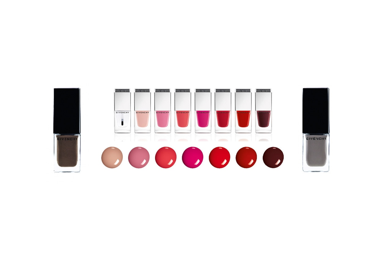 Givenchy sceglie sette diverse tonalità di smalti per LeRouge& LeVernis Collection