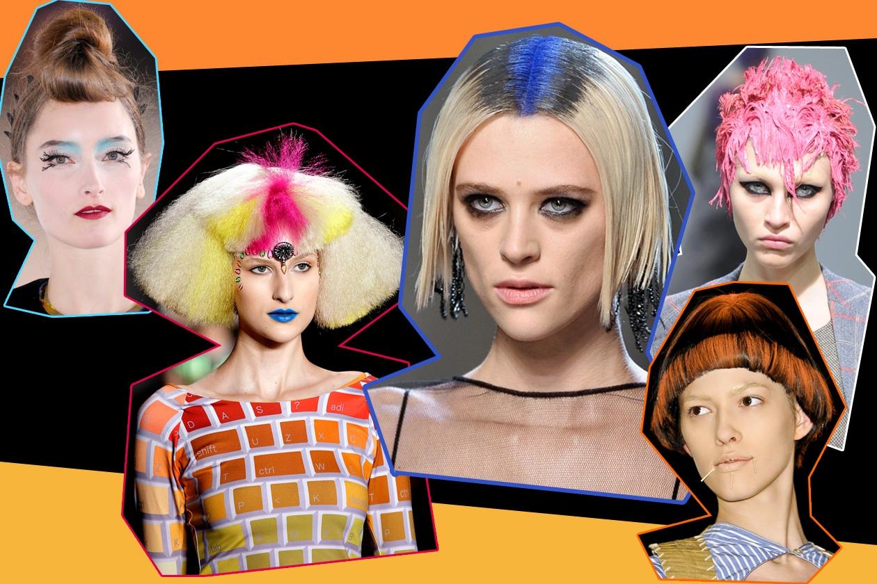 Hairdo eccentrici e colori fluo: è il momento di sperimentare finish stravaganti per sconfiggere il grigiore invernale