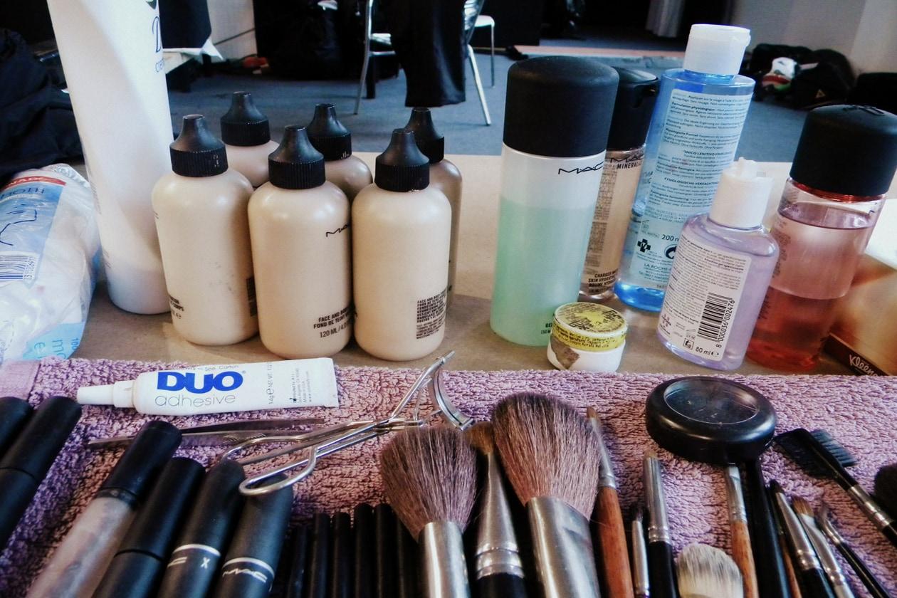 I prodotti usati per il make up