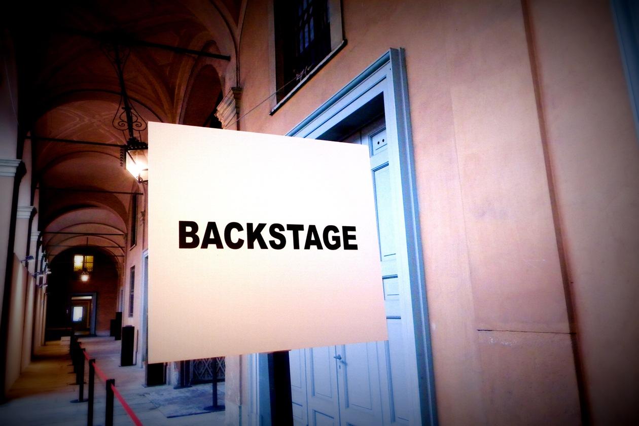 L'ingresso del backstage di Blugirl A/I 2013-14