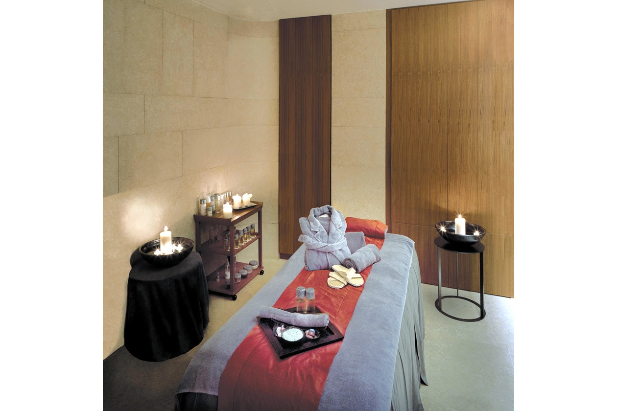 La cabina della SPA Hotel Bulgari dove abbiamo provato il massaggio total body