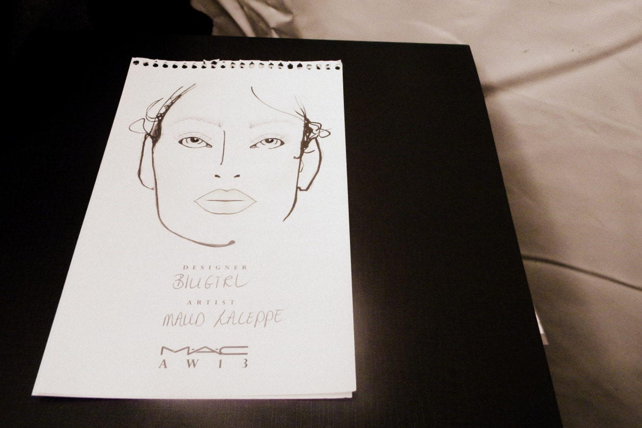 La face chart firmata da Maud Laceppe di MAC