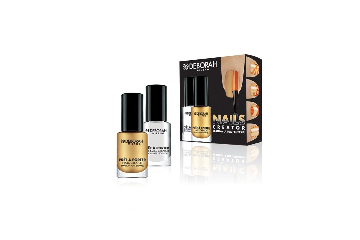 Prêt à Porter Nails Creator di Deborah Milano è un kit composto da una base e una lacca per creare delle facili nail art