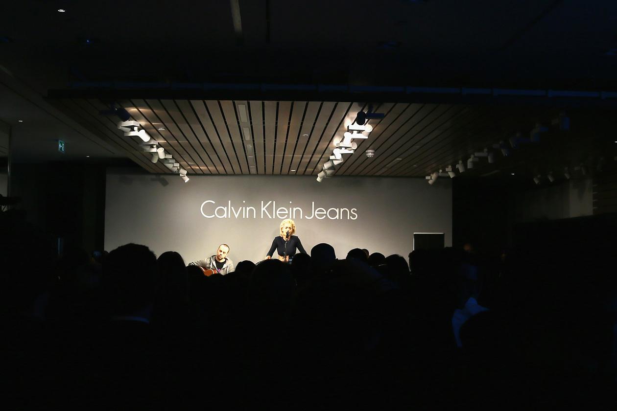 calvin klein jeans store opening london performance 021813 rita ora