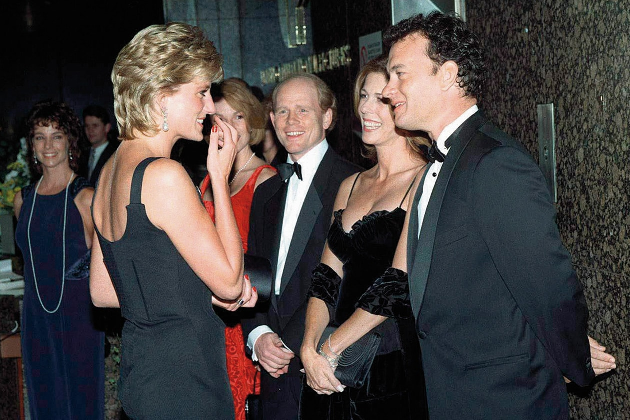 03 LADY DIANA MEETING ACTOR TOM HANKS FILM PREVIEW OF APOLLO 13