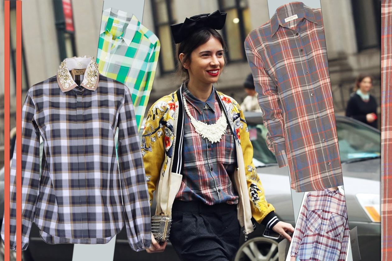 026 Fashion Camicie Tartan