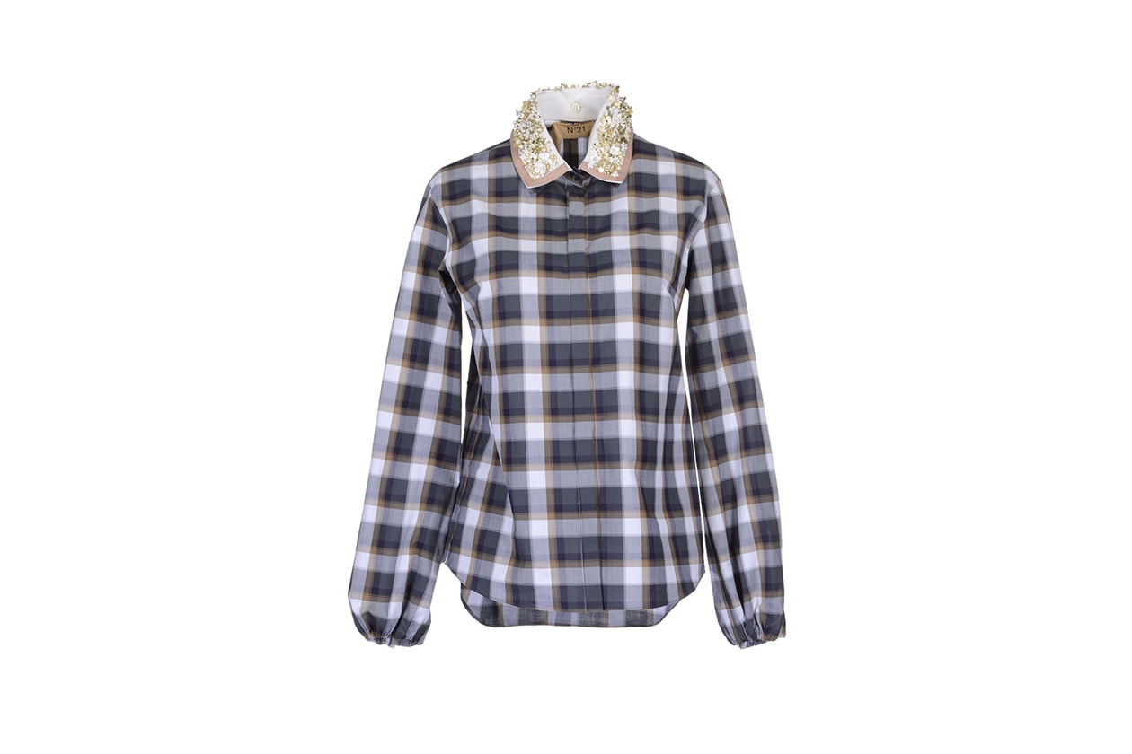 029 Fashion Camicie Tartan peter som