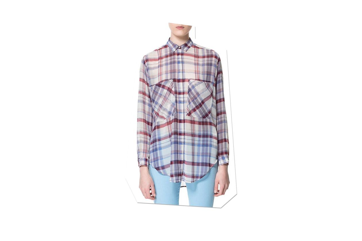 030 Fashion Camicie Tartan zara