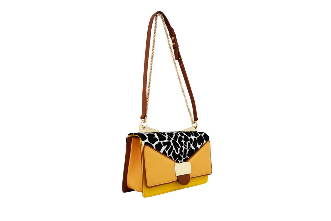 ANITA SHOULDER yellow giraffe+SARA BATTAGLIA+SS2013