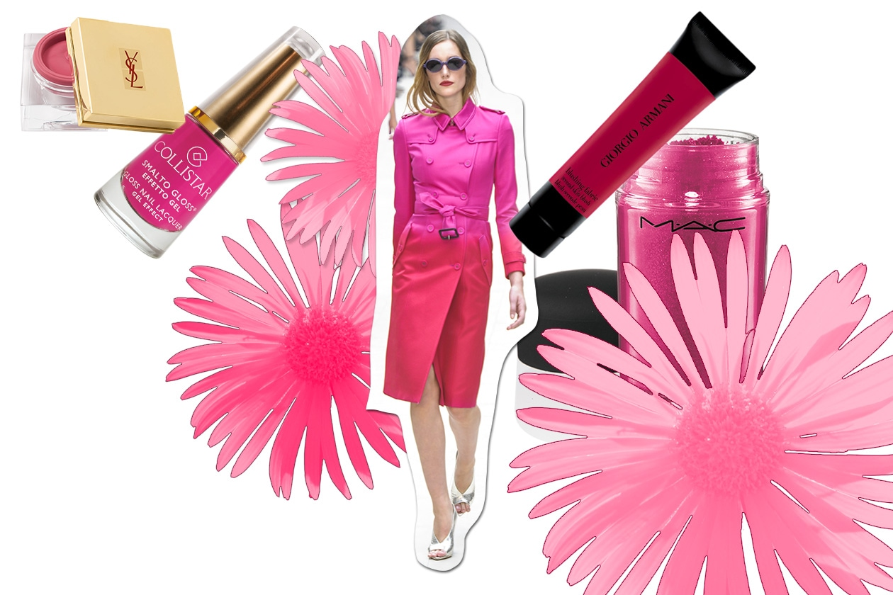 Beauty Make up in rosa Burberry Prorsum ful S13 1