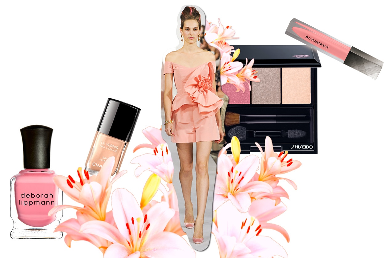 Beauty Make up in rosa O De La Renta ful S13 3