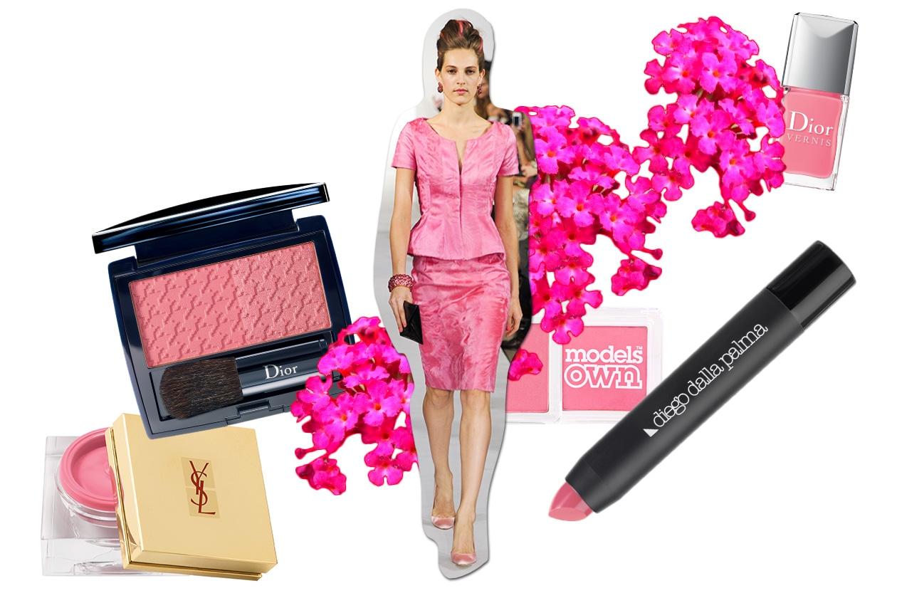 Beauty Make up in rosa O De La Renta ful S13 4