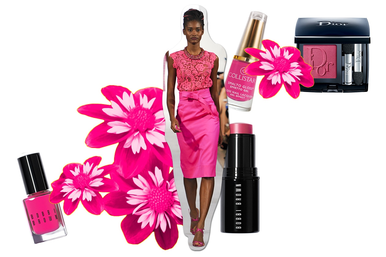Beauty Make up in rosa O De La Renta ful S13 5