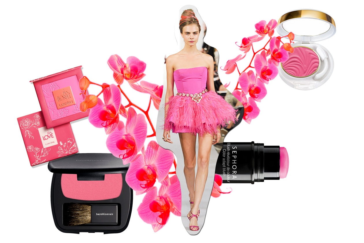 Beauty Make up in rosa O De La Renta ful S13 6