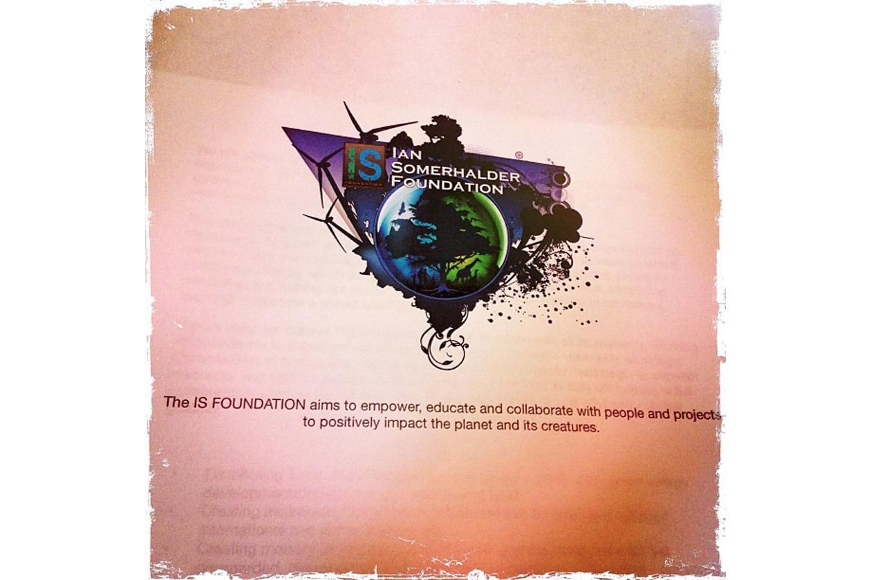 Ian Somerhalder presenta la sua fondazione green
