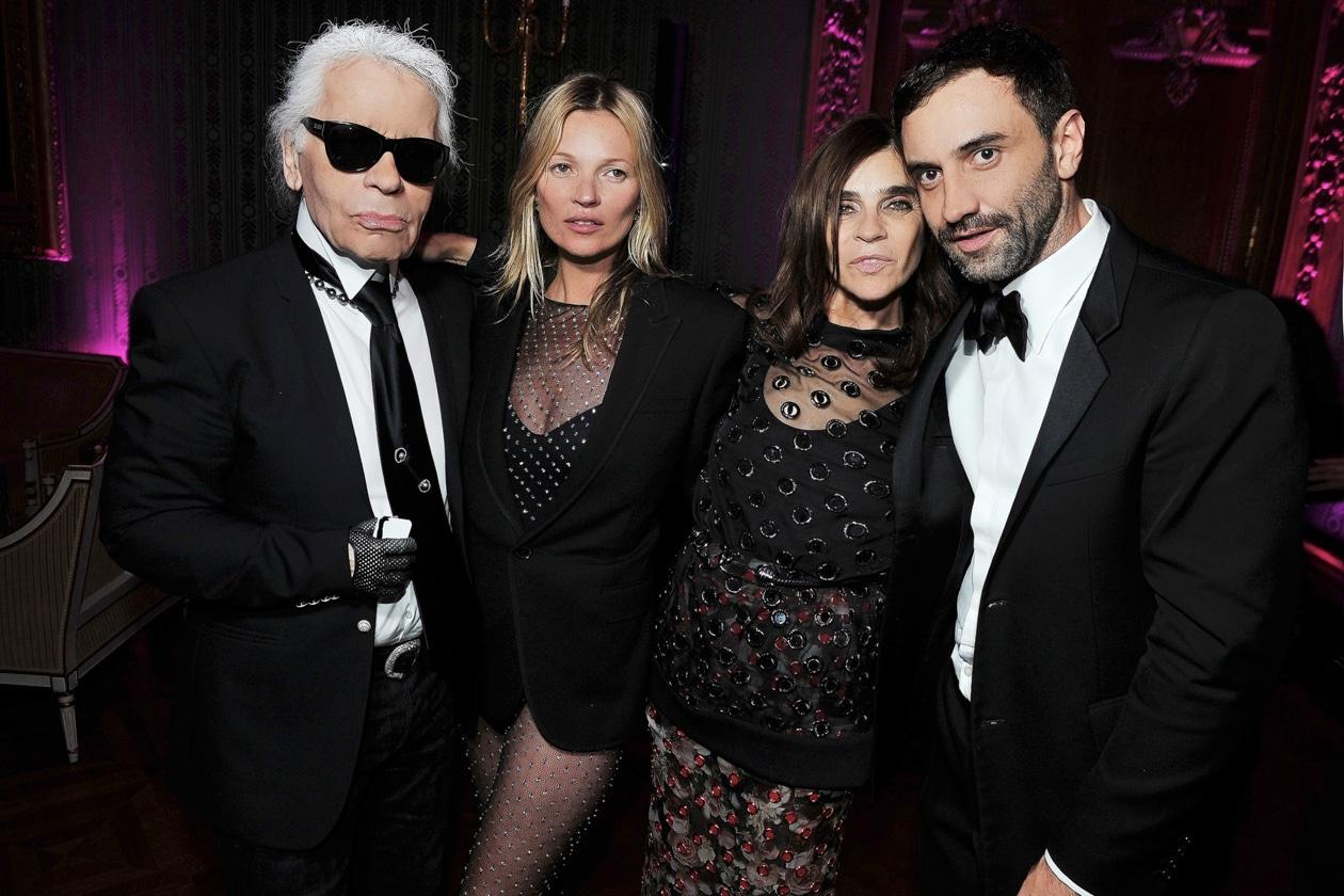 Karl Lagerfeld, Kate Moss, Carine Roitfeld, Riccardo Tisci