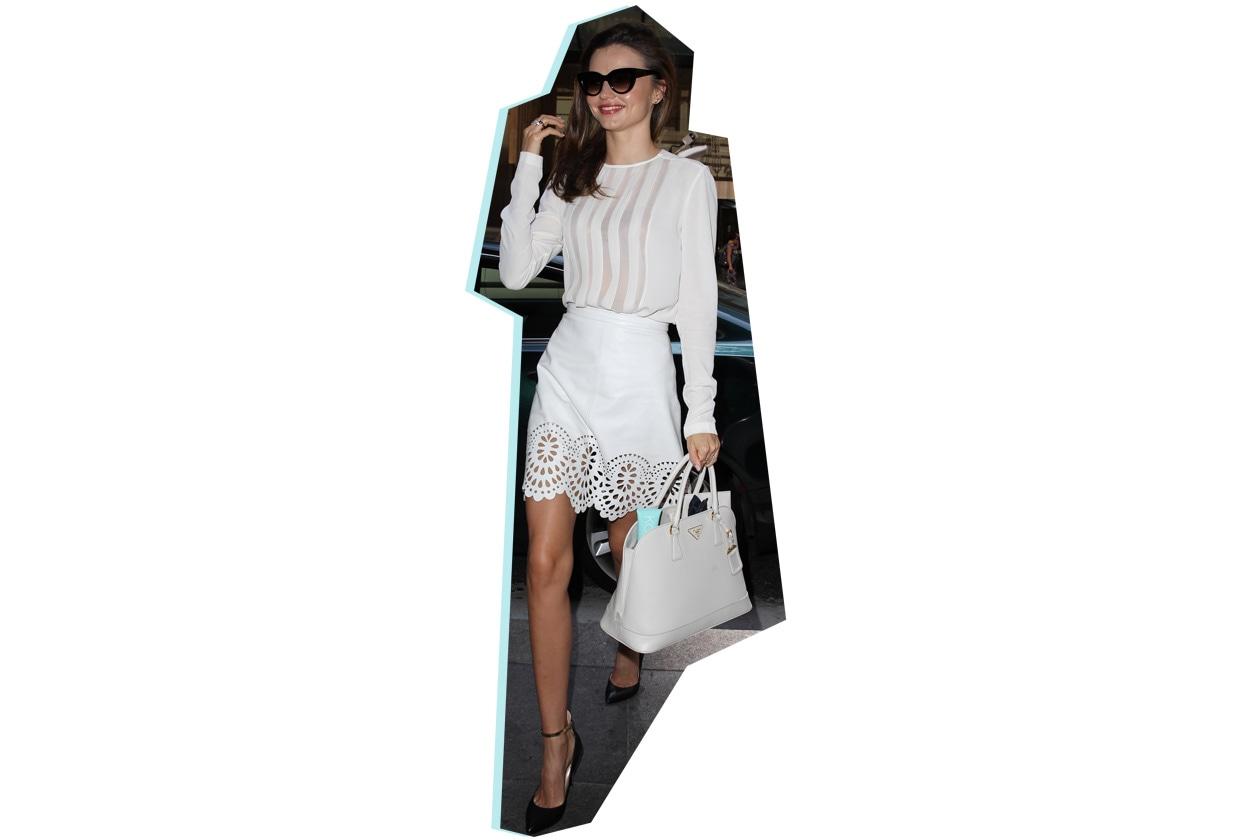 Miranda Kerr Prada saffiano bag SS13