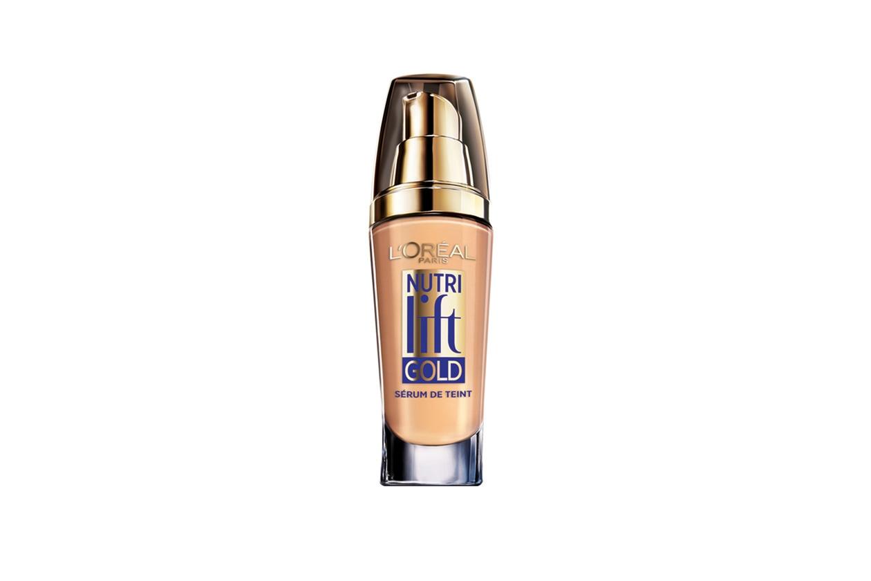 Nutrilift Gold di L'Orèal Paris associa gli attivi anti età del siero dei pigmenti che regalano una coprenza perfetta