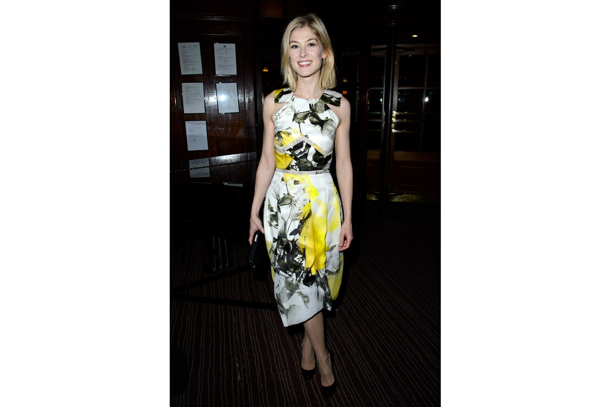 Rosamund Pike Christopher Kane resort 2013