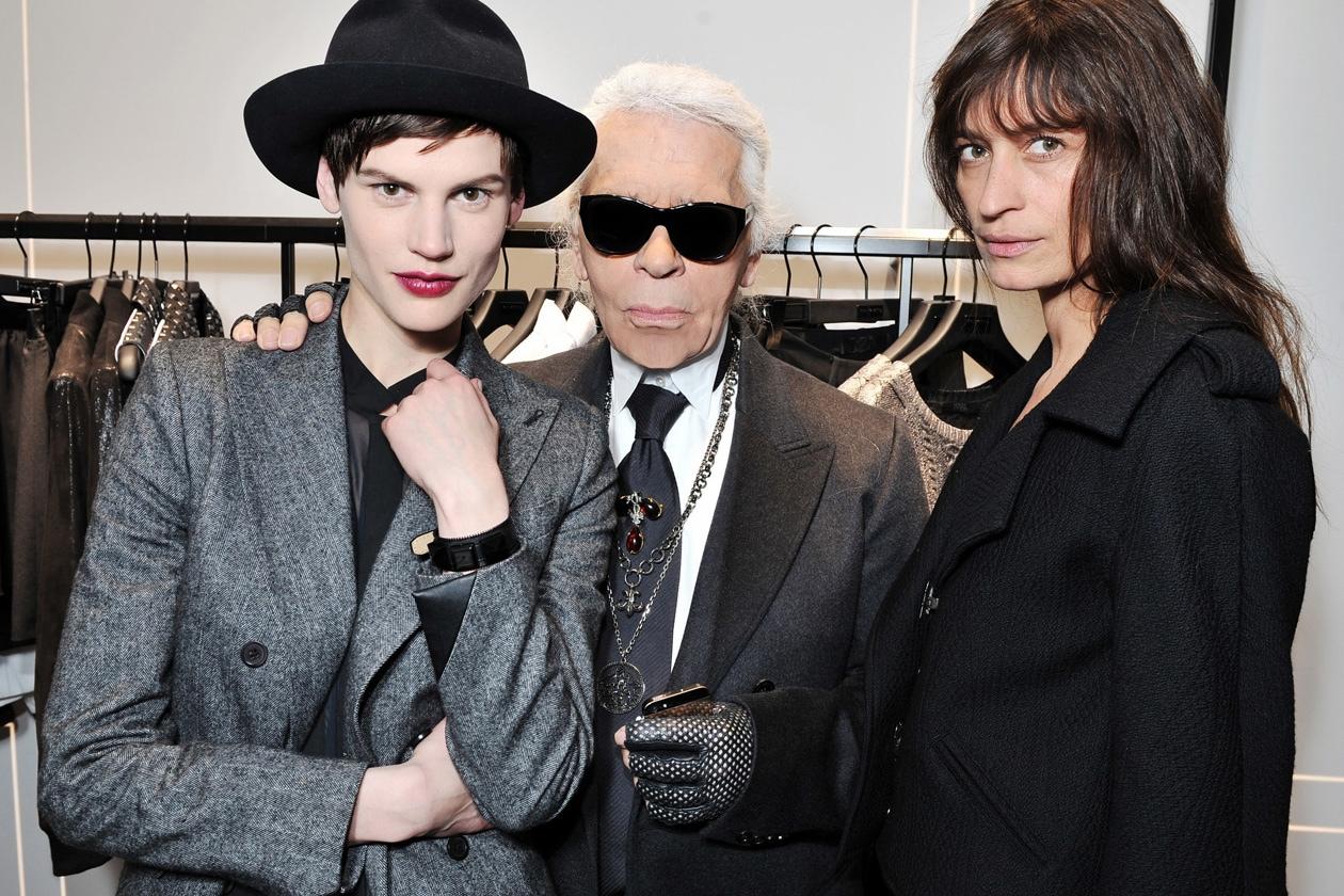 Saskia de Brauw, Karl Lagerfeld & Caroline de Maigret