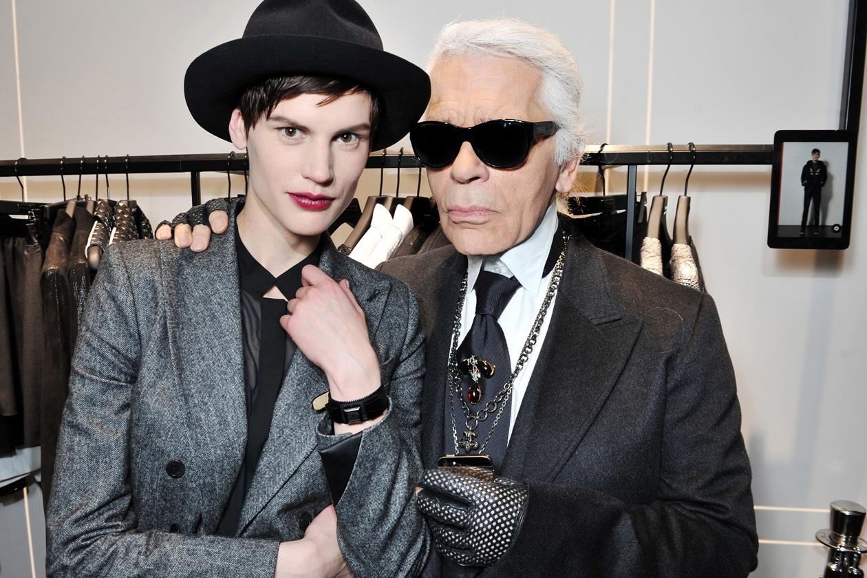 Saskia de Brauw & Karl Lagerfeld