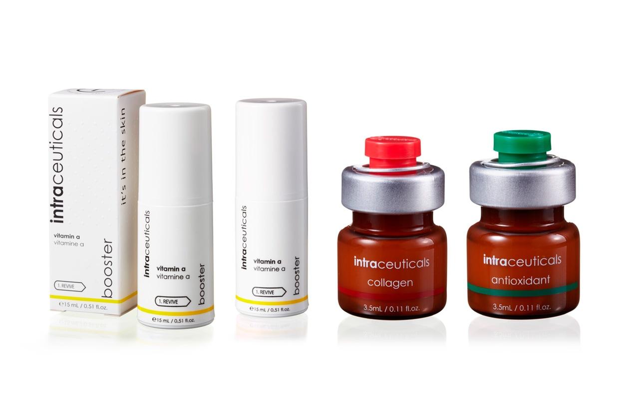 Tre nuovi booster per la Intraceuticals: Antioxidant, Collagen e Vitamin A