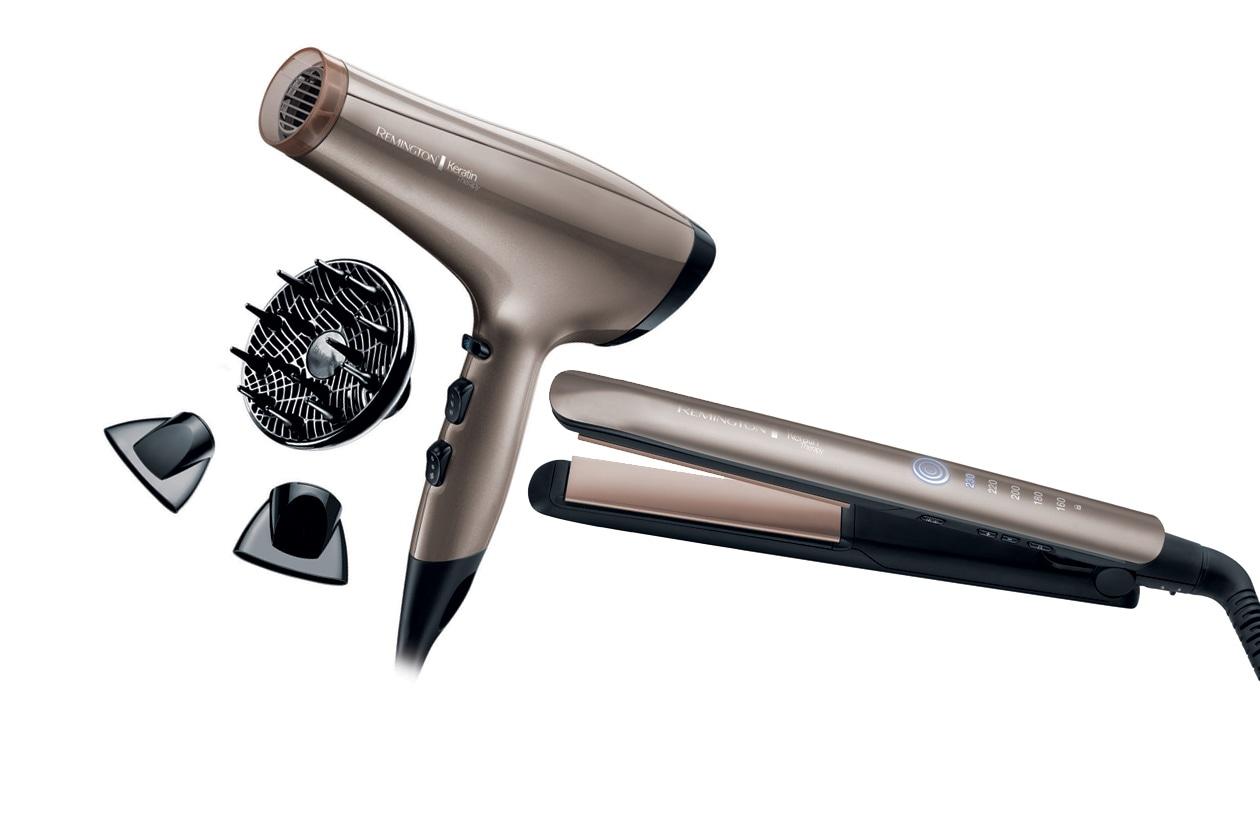 Una gamma di accessori per lo styling che contengono cheratina, essenziale per rendere più forte il capello: l'idea è di Remington