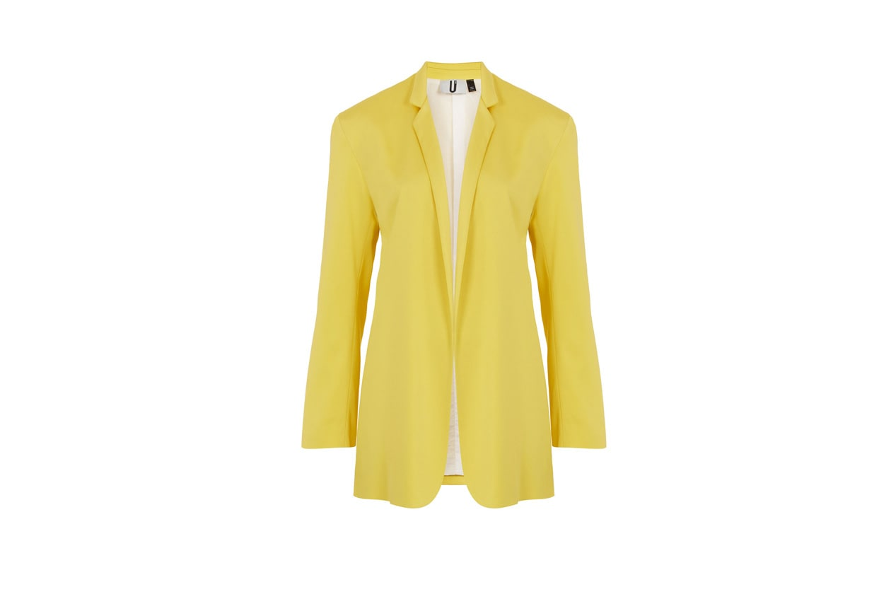 yellow blazer by unique via topshop