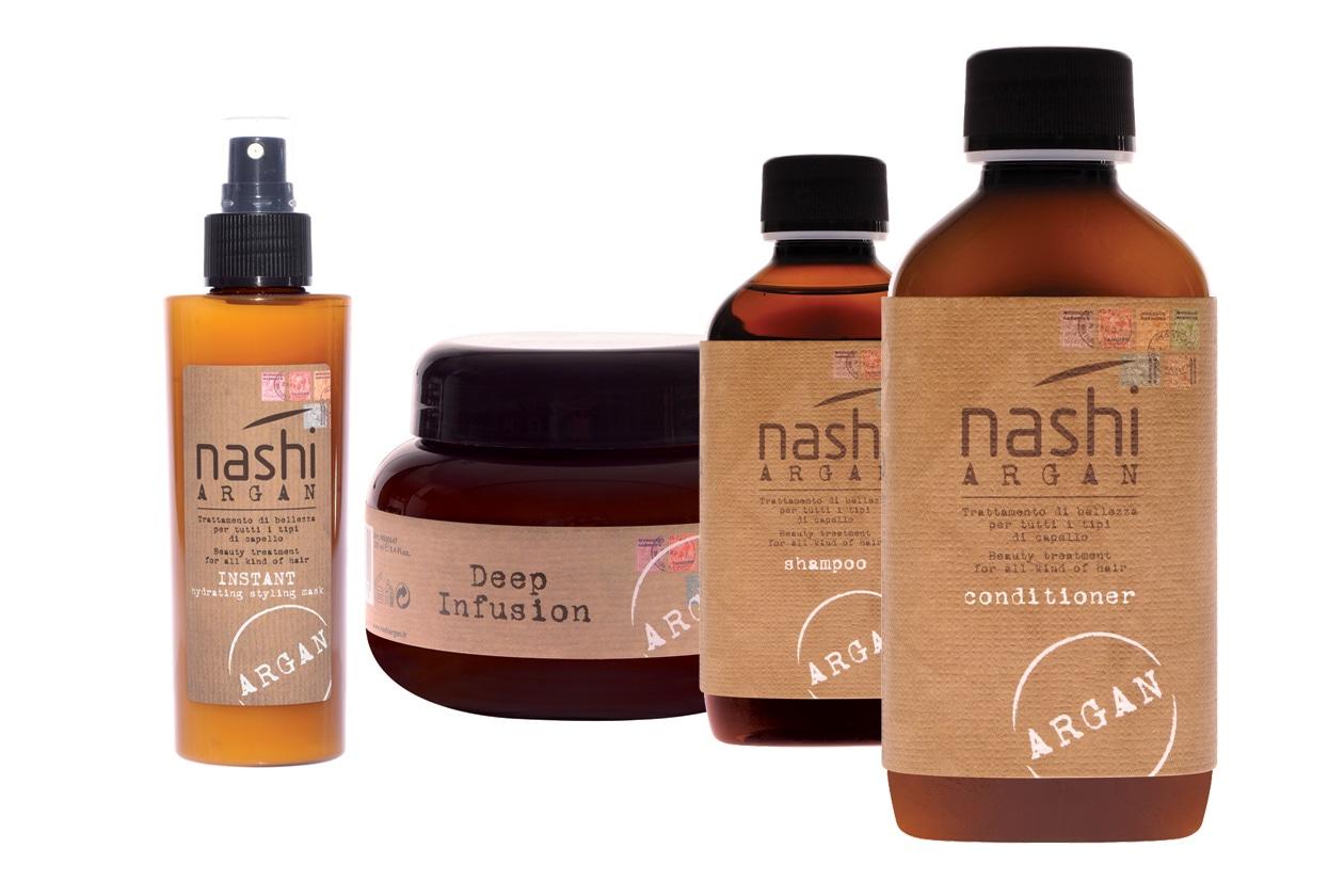 A combattere l'effetto crespo ci pensa tutta la linea Nashi Argan formulata con olio di argan