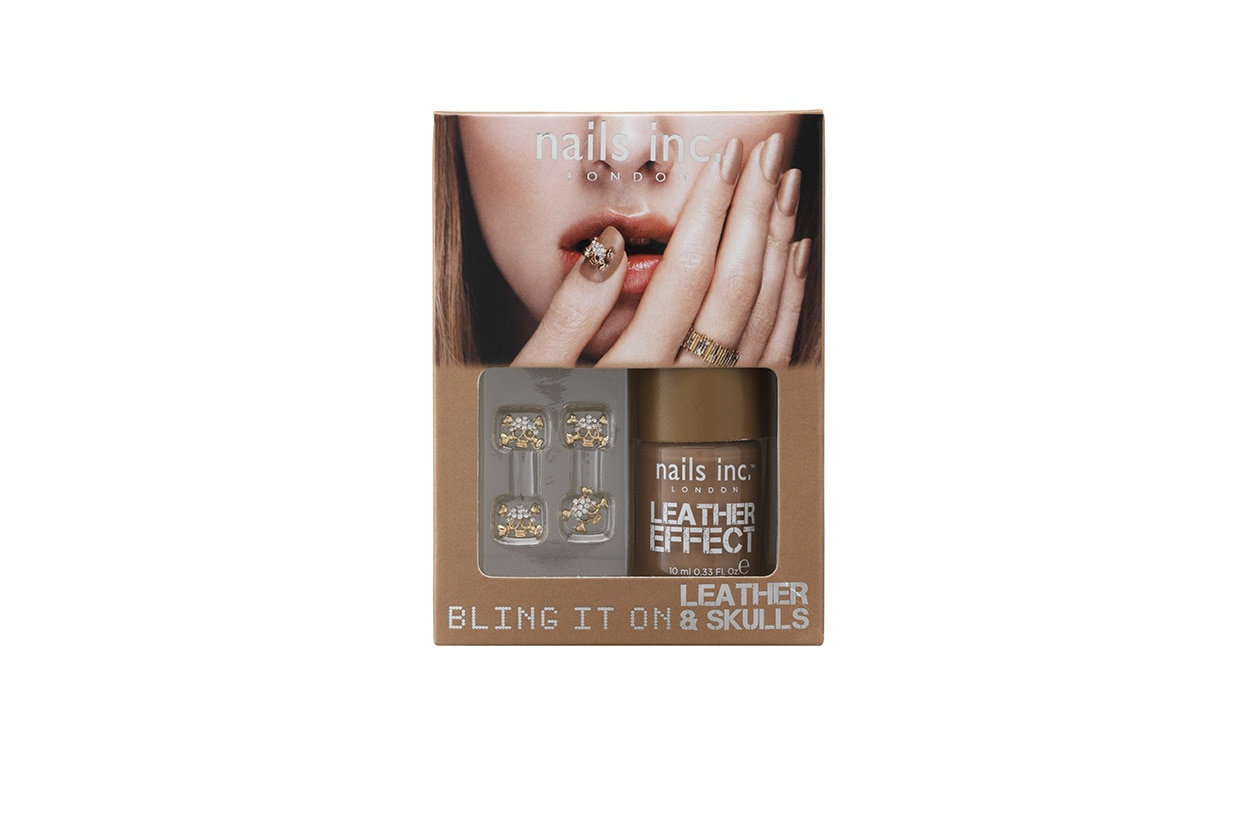 Beauty Smalti effetti speciali Nails Inc Bling it on Leather & Skulls