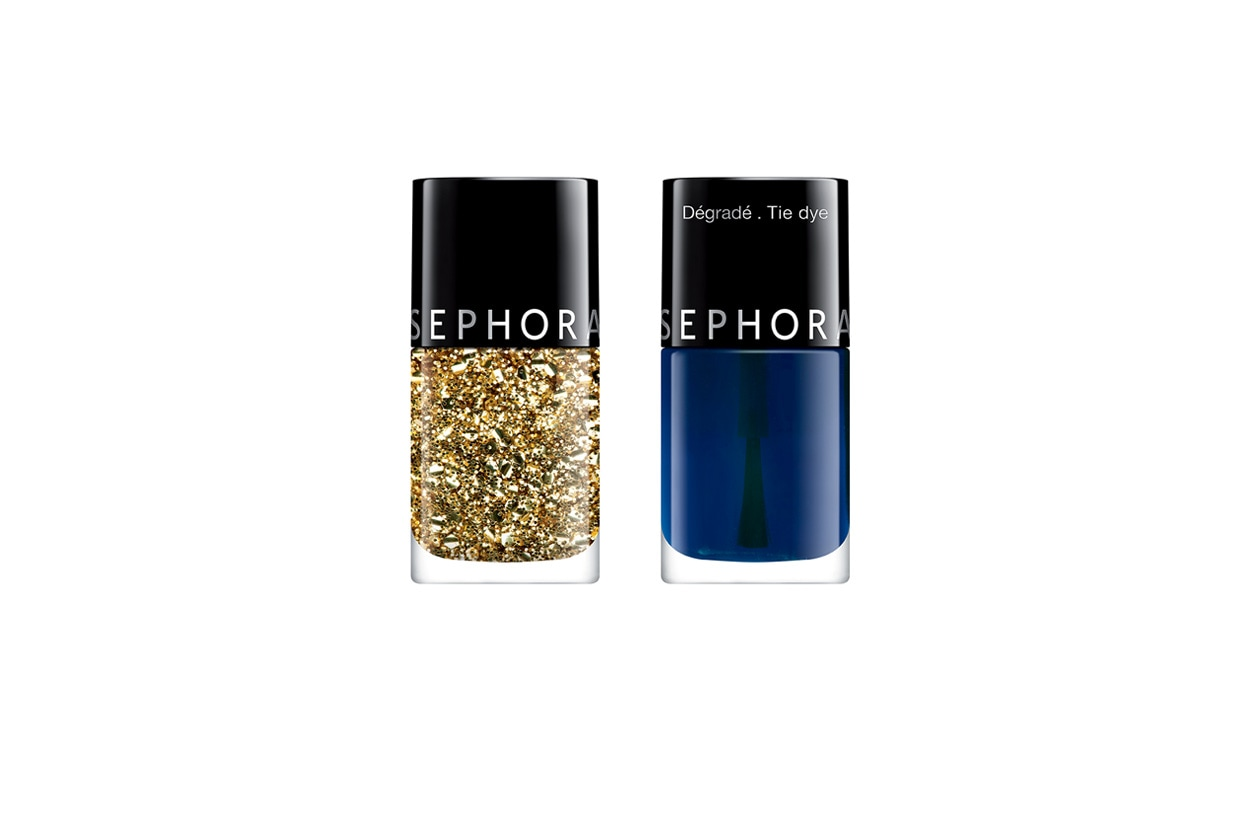 Beauty Smalti effetti speciali Sephora Top Coat Oro e Tie Dye
