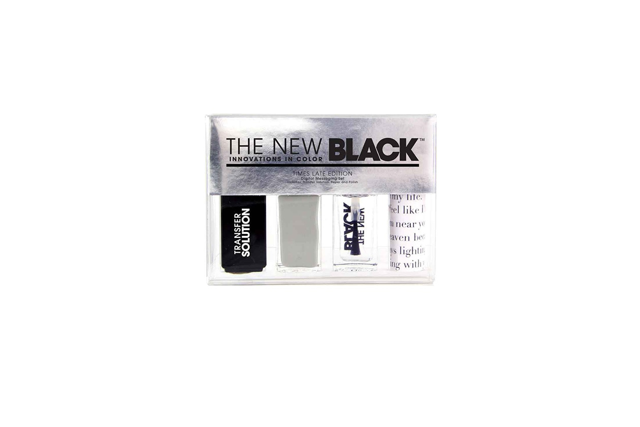 Beauty Smalti effetti speciali The New Black Tipography Times Late Edition