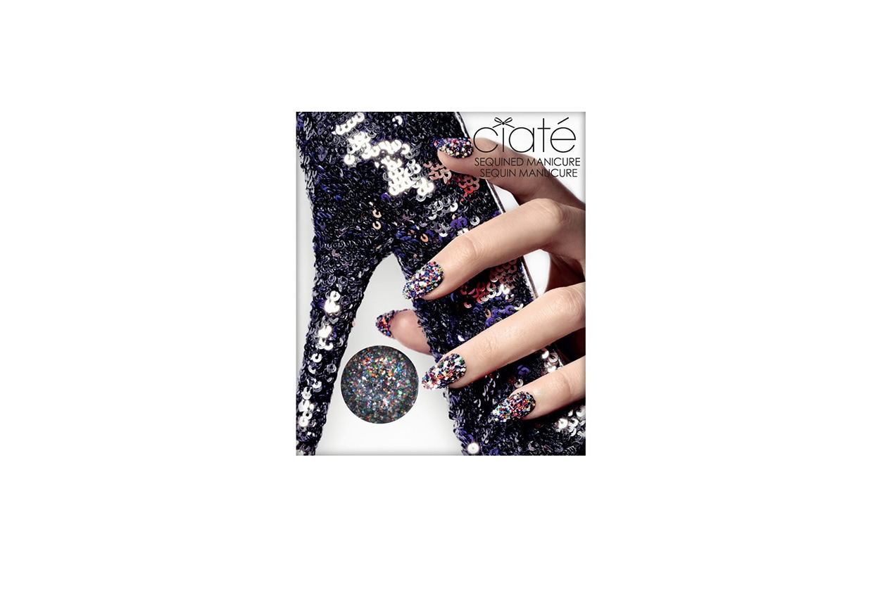 Beauty Smalti effetti speciali ciate sequined manicure
