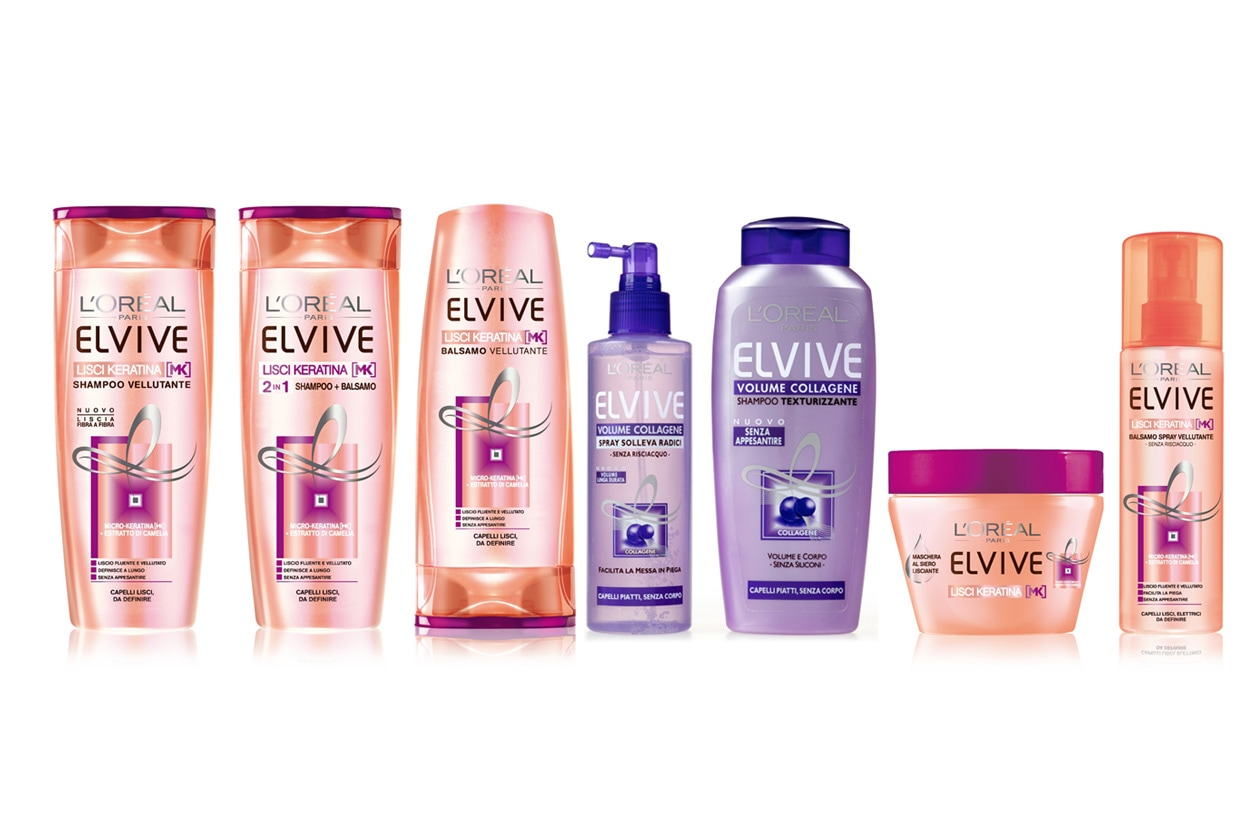 Collagene e Keratina per dare volume e robustezza ai capelli (Elvive di L'Oréal Paris)